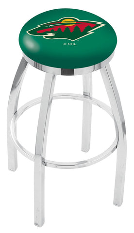 "30"" L8C2C - Chrome Minnesota Wild Swivel Bar Stool with Accent Ring by Holland Bar Stool Company"