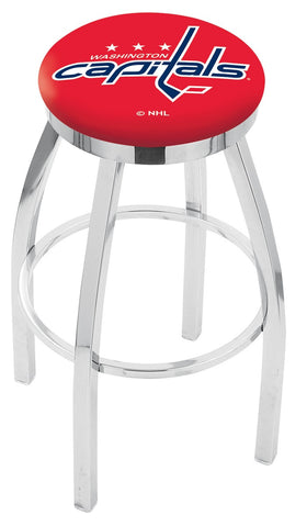 "30"" L8C2C - Chrome Washington Capitals Swivel Bar Stool with Accent Ring by Holland Bar Stool Company"