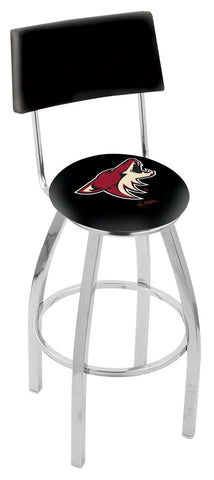 "30"" L8C4 - Chrome Arizona Coyotes Swivel Bar Stool with a Back by Holland Bar Stool Company"