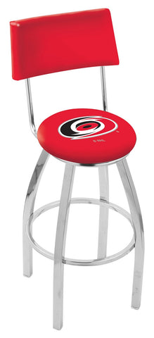 "30"" L8C4 - Chrome Carolina Hurricanes Swivel Bar Stool with a Back by Holland Bar Stool Company"