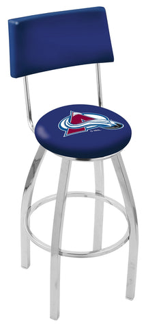 "30"" L8C4 - Chrome Colorado Avalanche Swivel Bar Stool with a Back by Holland Bar Stool Company"