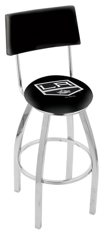 "30"" L8C4 - Chrome Los Angeles Kings Swivel Bar Stool with a Back by Holland Bar Stool Company"