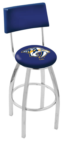 "30"" L8C4 - Chrome Nashville Predators Swivel Bar Stool with a Back by Holland Bar Stool Company"