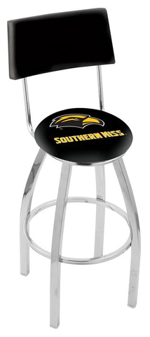 "Southern Miss Golden Eagles 30"" L8C4 - Chrome Southern Miss Swivel Bar Stool with a Back by Holland Bar Stool Company"