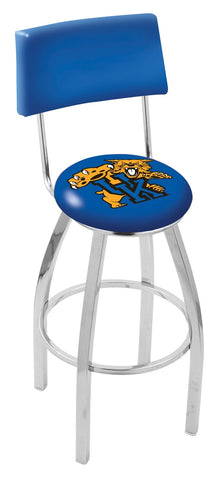 "UK Wildcats 30"" L8C4 - Chrome Kentucky ""Wildcat"" Swivel Bar Stool with a Back by Holland Bar Stool Company"