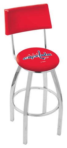 "30"" L8C4 - Chrome Washington Capitals Swivel Bar Stool with a Back by Holland Bar Stool Company"