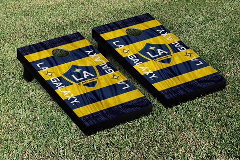LA Galaxy MLS Soccer Scarf Version Cornhole Game Set by Victory Tailgate