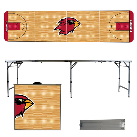 The Lamar Cardinals Basketball Court Version Portable Tailgating and Cup Game Table