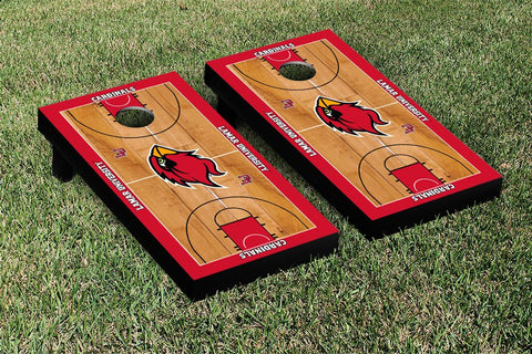 Lamar LU Cardinals Cornhole Game Set Basketball Court Version - Victory Tailgate 28173