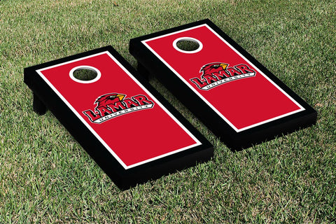 Lamar LU Cardinals Cornhole Game Set Border Version - Victory Tailgate 28174