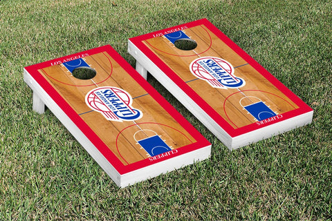 Los Angeles Clippers Cornhole Game Set Basketball Court Version - Victory Tailgate 28688