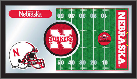 The Nebraska Cornhuskers Football Mirror - HBS MFtblNebrUn Man Cave Wall Art