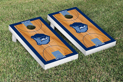 Memphis Grizzlies Cornhole Game Set Basketball Court Version - Victory Tailgate 28701