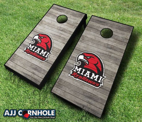 Miami University Redhawks Cornhole Set with Team Bags