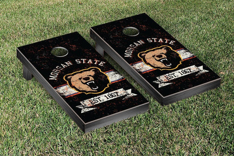 Morgan State MSU Bears Cornhole Boards and bags, Banner Vintage Version - Victory Tailgate 33071