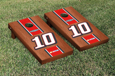 NASCAR Rosewood Striped Tax Act Version Cornhole Game Set by Victory Tailgate
