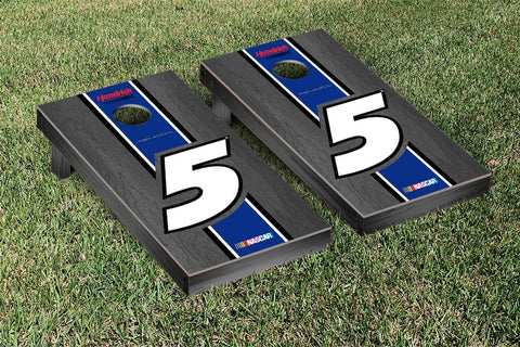 NASCAR Onyx Striped Version Cornhole Game Set by Victory Tailgate