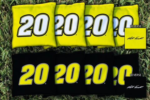 NASCAR #20 Matt Kenseth Cornhole Bags - Corn Filled