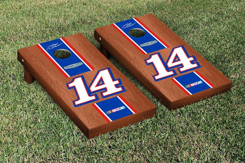 NASCAR Rosewood Striped Mobil Version Cornhole Game Set by Victory Tailgate