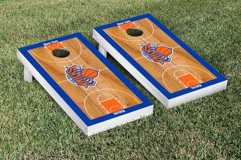 New York Knicks NBA Cornhole Game Set Basketball Court Version - Victory Tailgate 28548