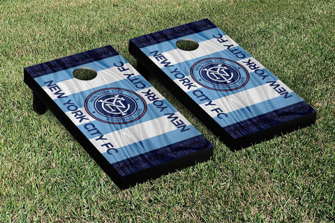 New York City FC MLS Soccer Scarf Version Cornhole Game Set by Victory Tailgate