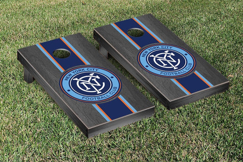 New York City FC Onyx Stained Stripe Version Cornhole Game Set by Victory Tailgate
