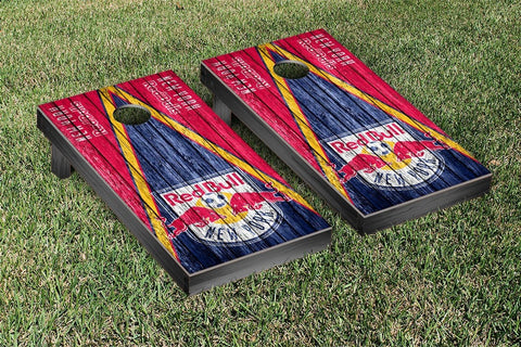 New York Red Bulls Weathered Triangle Version Cornhole Game Set by Victory Tailgate