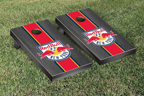New York Red Bulls Onyx Stained Stripe Version Cornhole Game Set by Victory Tailgate