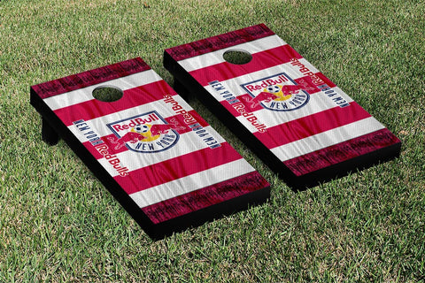 New York Red Bulls MLS Soccer Scarf Version Cornhole Game Set by Victory Tailgate