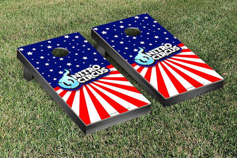 Nitro Circus Flag Version Cornhole Boards by Victory Tailgate