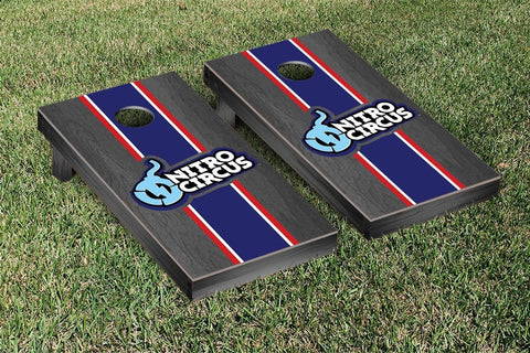 Nitro Circus Onyx Stained Stripe Version Cornhole Boards by Victory Tailgate