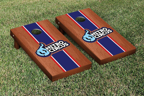 Nitro Circus Rosewood Stained Stripe Version Cornhole Boards by Victory Tailgate