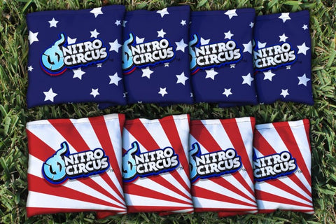 Nitro Circus All Weather Cornhole Bag Set of 8 Corn Hole Bags