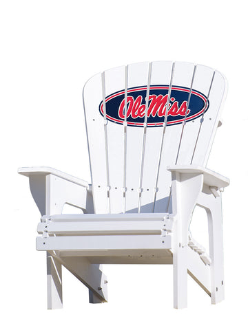 The Ole Miss Rebels Adirondack Chairs by Key Largo