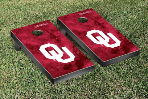 University of Oklahoma Sooners Cornhole Game Set Galaxy Version - Victory Tailgate 60051