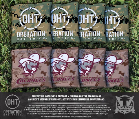 Operation Hat Trick Eastern Kentucky University EKU Colonels Cornhole All Weather Bags Victory Tailgate 33830
