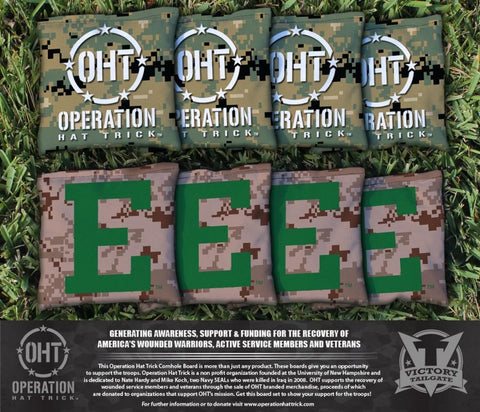 Operation Hat Trick Eastern Michigan University Eagles Cornhole All Weather Bags Victory Tailgate 31628