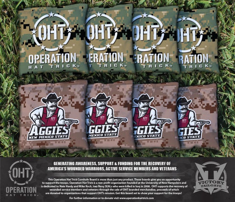 Operation Hat Trick New Mexico State Aggies Cornhole All Weather Bags Victory Tailgate 32309