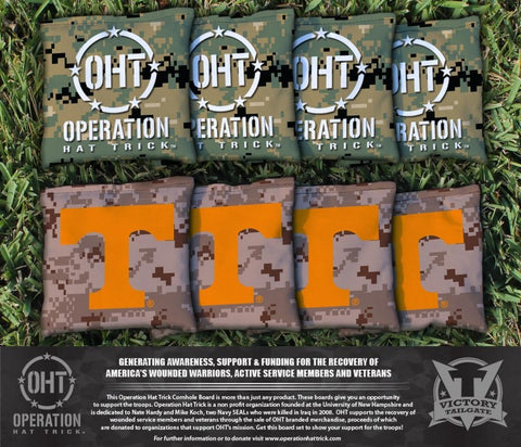 Operation Hat Trick University of Tennessee Volunteers Cornhole All Weather Bags Victory Tailgate 37915
