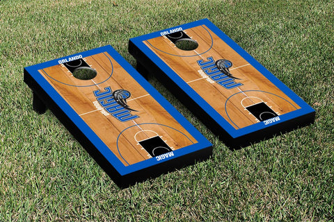 Orlando Magic Cornhole Game Set Basketball Court Version - Victory Tailgate 28839