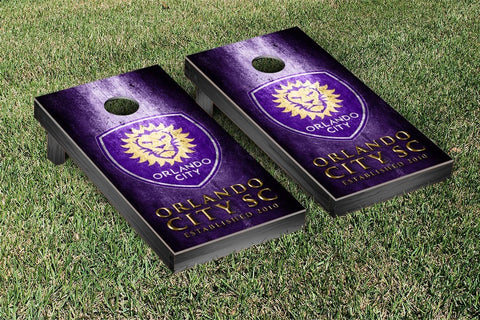 Orlando City Lions Metal Version Cornhole Game Set by Victory Tailgate