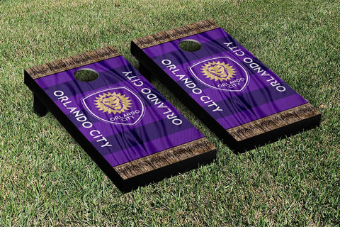 Orlando City Lions MLS Soccer Scarf Version Cornhole Game Set by Victory Tailgate