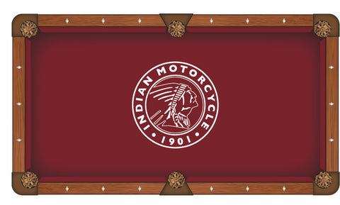9' Indian Motorcycle (Outline) Pool Table Cloth by Covers by HBS