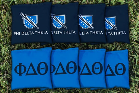 Phi Delta Theta Corn Hole Bag Logo Set - corn filled