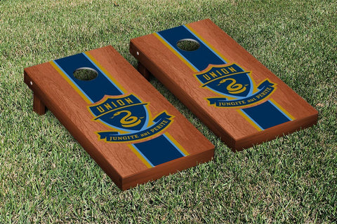 Philadelphia Union Rosewood Stained Stripe Version Cornhole Game Set by Victory Tailgate