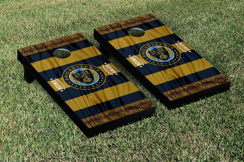 Philadelphia Union MLS Soccer Scarf Version Cornhole Game Set by Victory Tailgate