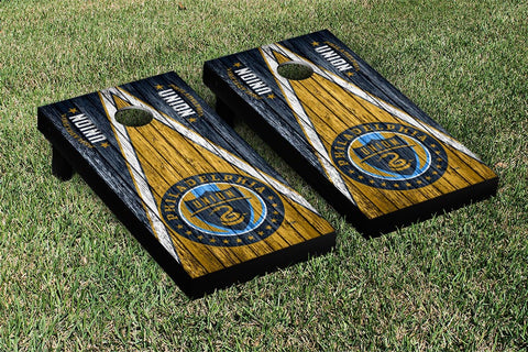 Philadelphia Union Weathered Triangle Version Cornhole Game Set by Victory Tailgate