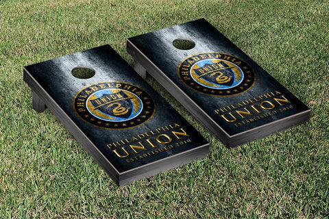 Philadelphia Union Metal Version Cornhole Game Set by Victory Tailgate