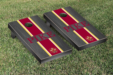 Pi Kappa Alpha Onyx Stained Cornhole Set Victory Tailgate 31539