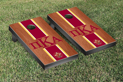 Pi Kappa Alpha Rosewood Stained Cornhole Set Victory Tailgate 31540